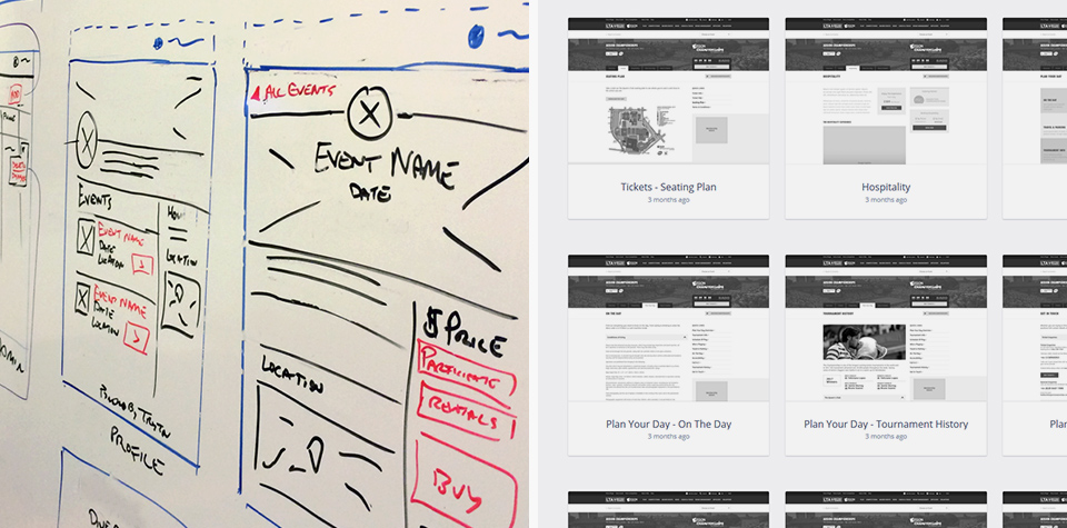 Wireframes of our design solution